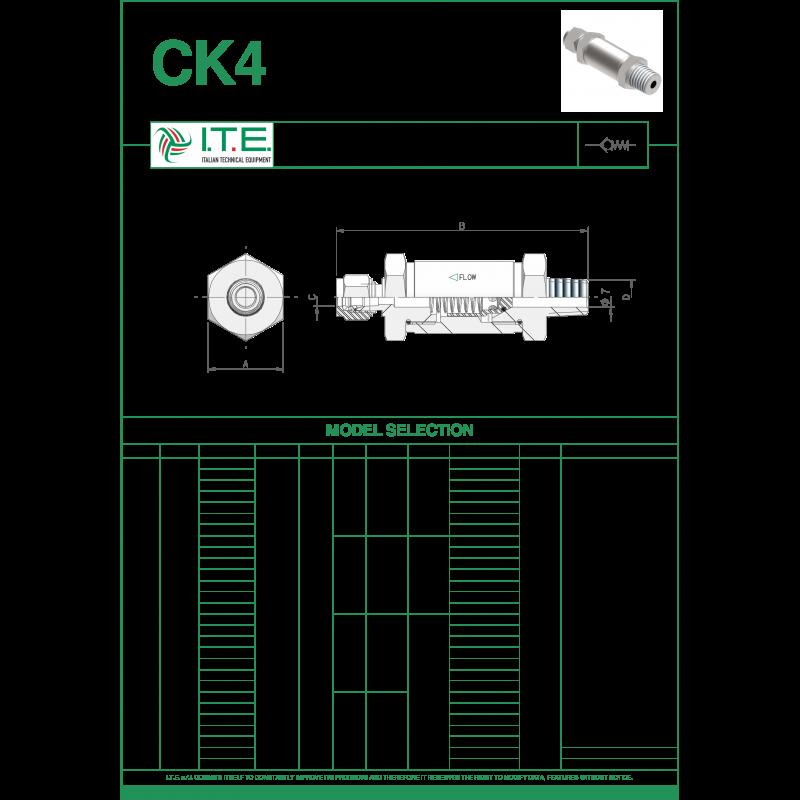 Обратный клапан CK06-SV8-NM12 на 420 бар