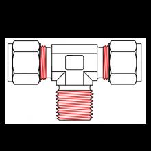 Фитинг тройник BTM для труб - наружная резьба